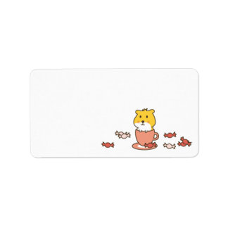 cute greetings address label
