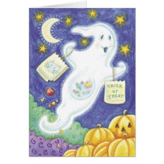 Cute Halloween Ghost Greeting Card