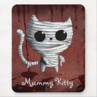 Cute Halloween Mummy Cat Mouse Pad