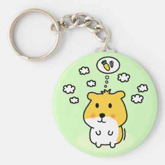 cute hamster dream basic round button key ring