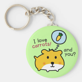 cute hamster timmy basic round button key ring