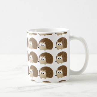 Cute Hedgehog pattern Basic White Mug