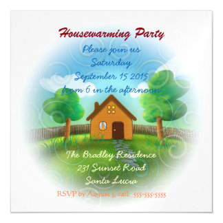 Cute Housewarming Party Invitation Magnetic Invitations