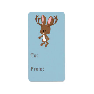 Cute Jackalope Address Label