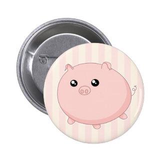 Cute Kawaii chubby pink pig 6 Cm Round Badge