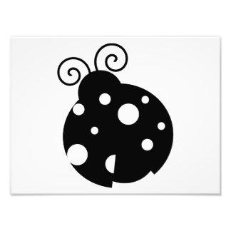 Cute Ladybug Silhouette Art Photo