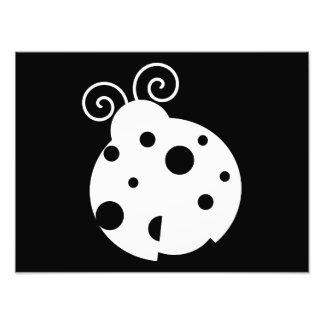 Cute Ladybug Silhouette Photo Art