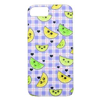 cute lemon lime girl phone case
