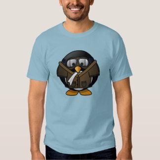 Cute little animated pilot penguin t-shirt
