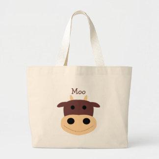 Cute little brown cow bag
