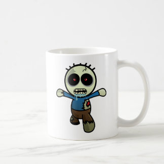 Cute Little Cartoon Zombie Basic White Mug
