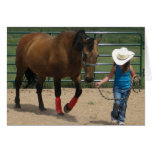 Cute Little Cowgirl Birthday Greeting Card