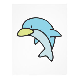 cute little dolphin 21.5 cm x 28 cm flyer
