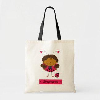 Cute little ladybug girl personalized bag