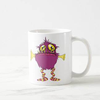 Cute Little Monster Buddies Basic White Mug