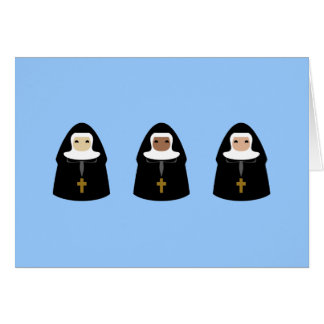 Cute Little Nuns Greeting Card