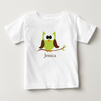 Cute Little Owl Personalized Baby Shirt