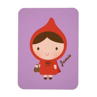 Cute Little Red Riding Hood Fairytale for Girls Rectangular Photo Magnet
