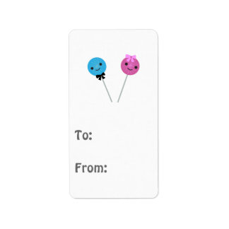 Cute Lollipops Address Label