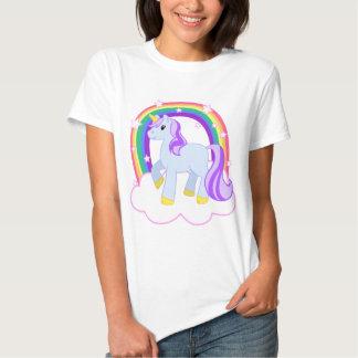 Cute Magical Unicorn with rainbow (Customisable!) Tee Shirt