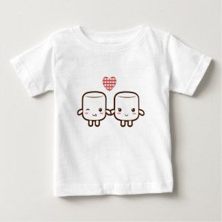 Cute Marshmallow couple Tee Shirts
