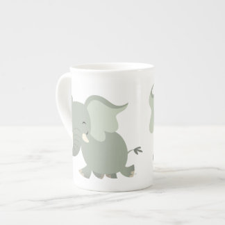 Cute Merry Cartoon Elephant Bone China Mug