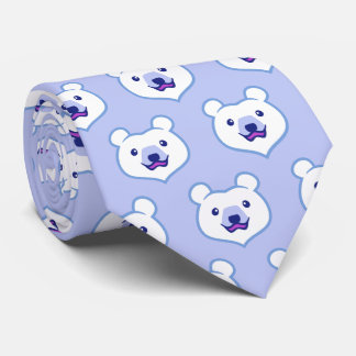 Cute Minimalist Cartoon Polar Bear Tie
