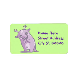 Cute Monster Address Label