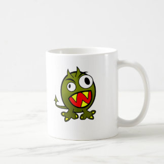 Cute Monster Basic White Mug