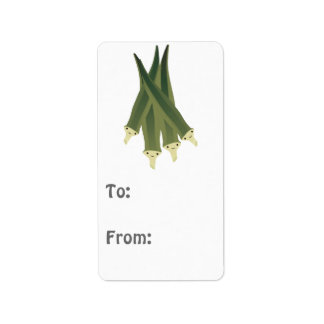 Cute Okra Address Label