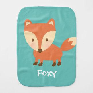 Cute Orange Woodland Fox For Babies Baby Burp Cloths