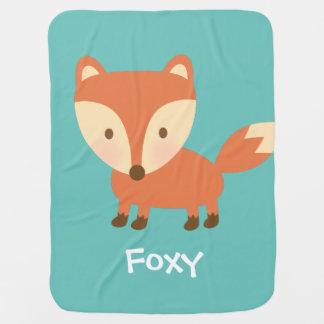 Cute Orange Woodland Fox For Babies Pramblanket