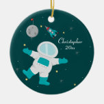 Cute outer space astronaut personalised ornament