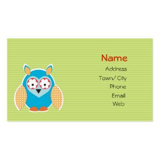Cute owl business card