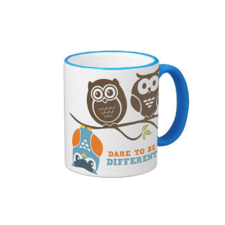 Cute Owl Cartoon Dare To Be Different Mug