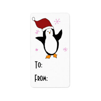 Cute Penguin Address Label