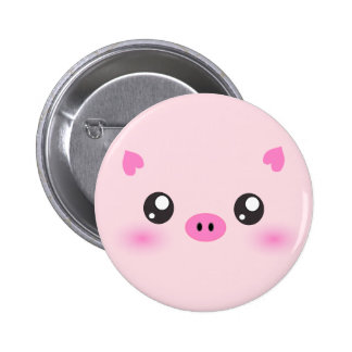 Cute Pig Face - kawaii minimalism 6 Cm Round Badge