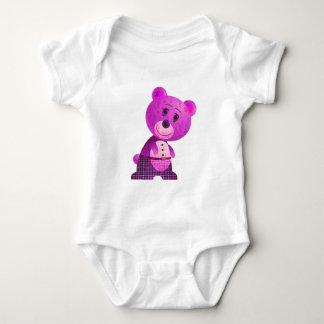 Cute Pink Bear Infant Long SleeveT-Shirt Tshirt