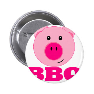 Cute Pink Pig BBQ 6 Cm Round Badge