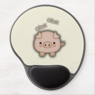 Cute Pink Pig Oink Gel Mouse Pad