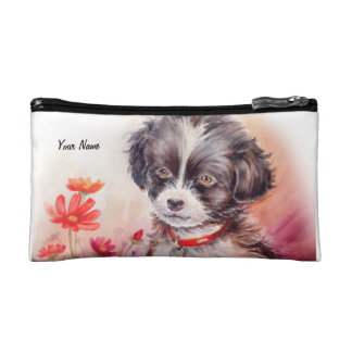 Cute Puppy Dog Art Cosmetic bag