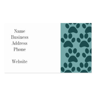 Cute Puppy Dog Paw Prints Blue Gray Dog Lovers Pack Of Standard Business Cards