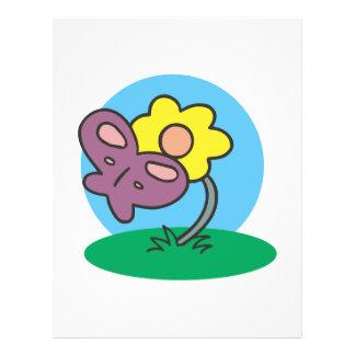 cute purple butterfly on flower 21.5 cm x 28 cm flyer