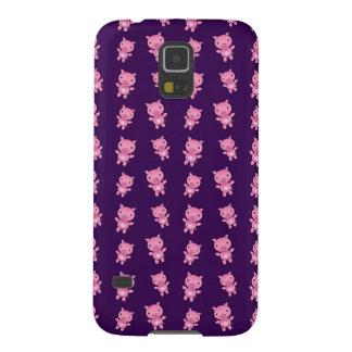 Cute purple pig pattern galaxy s5 case