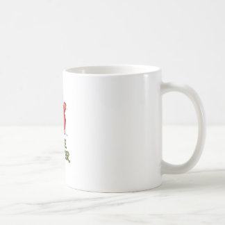 Cute red tickle Monster by send2smiles Basic White Mug