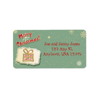 Cute Retro Christmas Address Label