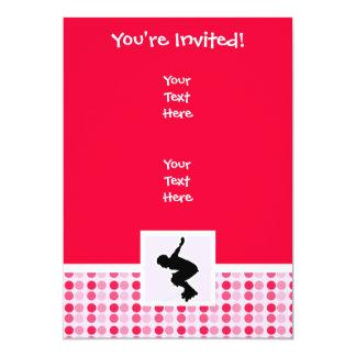 Cute Rollerblading 13 Cm X 18 Cm Invitation Card
