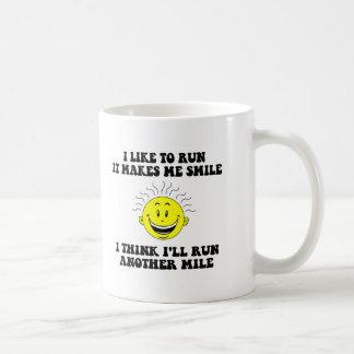 Cute running saying basic white mug