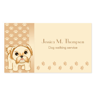 Cute Shih Tzu Puppy Dog Pet Service Industry Pack Of Standard Business Cards