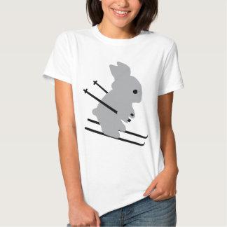 cute ski bunny  snow skiing shirt